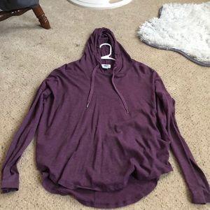 Line long sleeve hoodie.